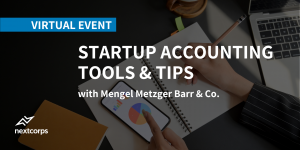 Startup Accounting Tools and Tips Virtual Workshop